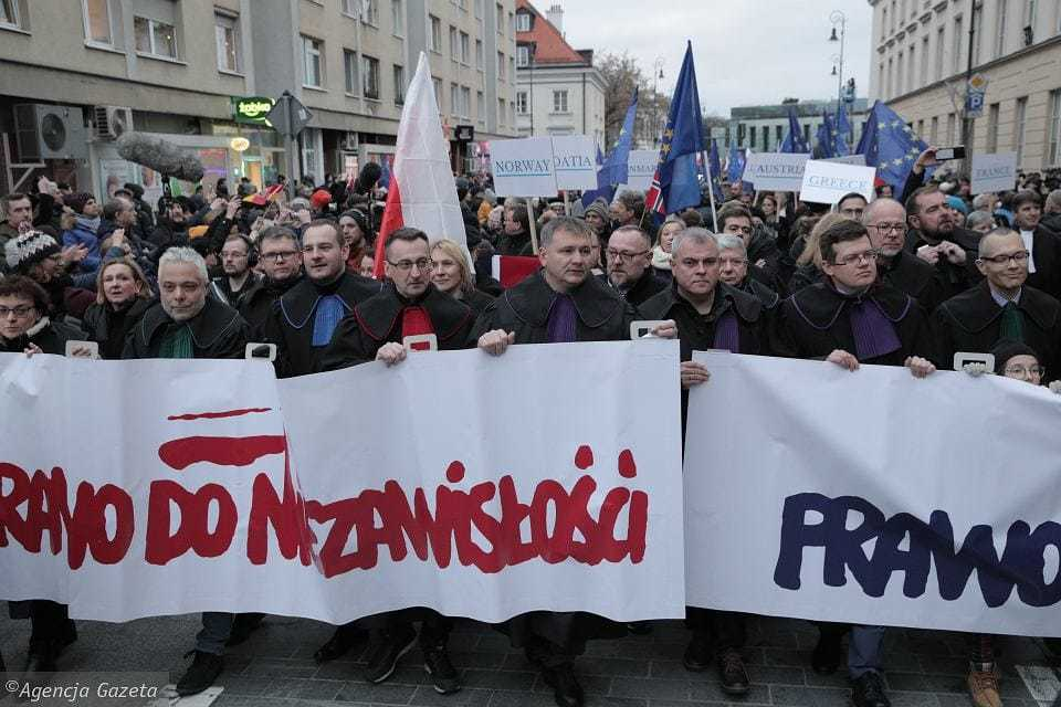 Protest march in Warsaw